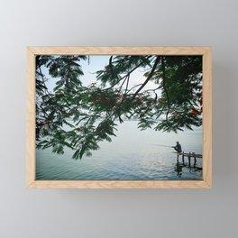West Lake Fisherman IV Framed Mini Art Print