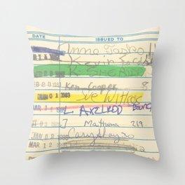 Library Card 3503 Exploring the Moon Throw Pillow