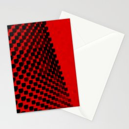 Eye Play in Black and Red Stationery Cards