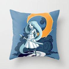 MoonGirl Throw Pillow