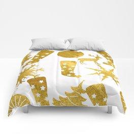 Gold Christmas 06 Comforters