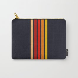 """Five Colorful Stripes on Black """"Sunrise"""" Carry-All Pouch"""