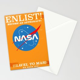 """NASA Enlist! Become an Astronaut """"Travel to Mars"""" Stationery Cards"""