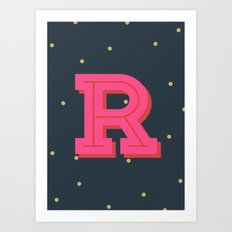 R is for Rad Art Print