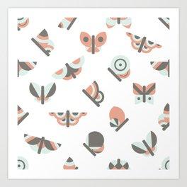 Butterflies pattern Art Print