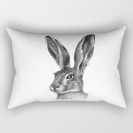 Cute Hare portrait G126 Rectangular Pillow