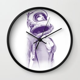 Space Woman Wall Clock