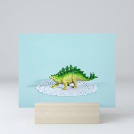 Doily Stegosaurus Mini Art Print