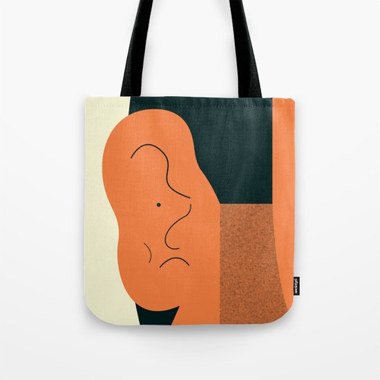 Angry talking makes the ear cranky Tote Bag