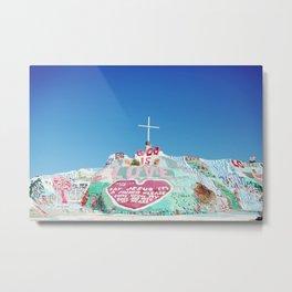 Salvation Mountain in the Californian Desert Metal Print