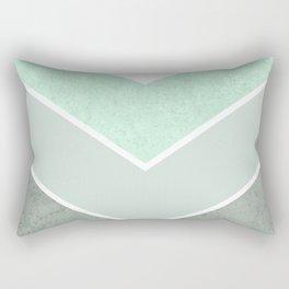 MINT TEAL GRAY CONCRETE CHEVRON Rectangular Pillow