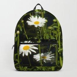 Sweet Romance Wildflower Daisies in a Secret Meadow Backpack