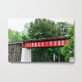 Roll Tide Bridge Metal Print