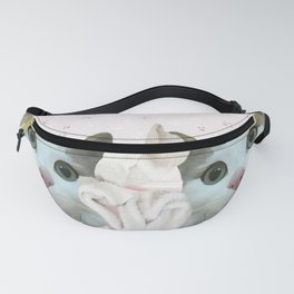 kitten.   pink, cats, pattern, children, pet, feline, animals, Society6. Fanny Pack