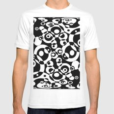 Chaos in black and white Mens Fitted Tee MEDIUM White
