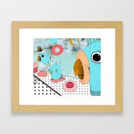 Cockatoo Making Muffins  Framed Art Print