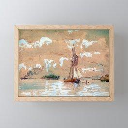 Oscar Kleineh Sea Landscape Framed Mini Art Print