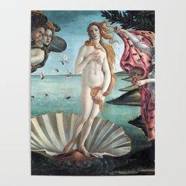 The Birth of Venus, Sandro Botticelli Poster