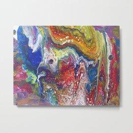 Rainbow Galaxy Abstract Metal Print