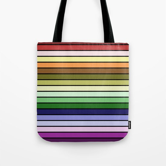 MULTICOLORED STRIPES (abstract pattern) Tote Bag