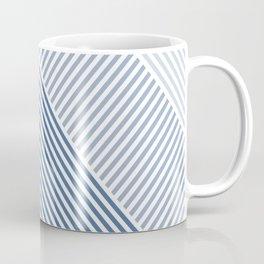 Shades of Blue Abstract geometric pattern Coffee Mug