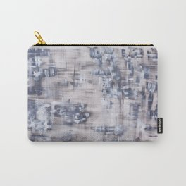 "Modern home decor art. ""Gray grid"" Carry-All Pouch"