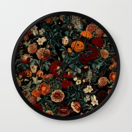 EXOTIC GARDEN - NIGHT XXI Wall Clock