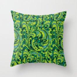 Verdant Victorian Vegetation Throw Pillow