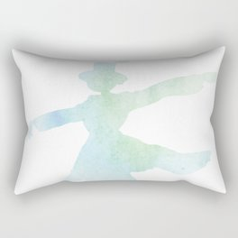 Howl's Moving Castle Inspired Turnip Head Scarecrow Watercolor Illustration Rectangular Pillow