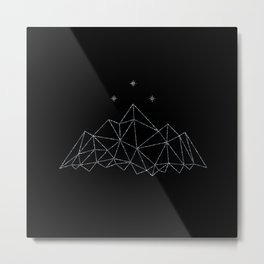 The Night Court insignia from A Court of Frost and Starlight Metal Print