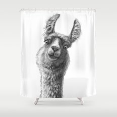 Cute Llama G135 Shower Curtain