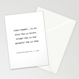 A A Milne Quote Stationery Cards