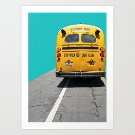 Old School Bus Art Print