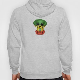 Cute Puppy Dog with flag of Ethiopia Hoody