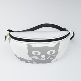 Gray cat pattern Fanny Pack