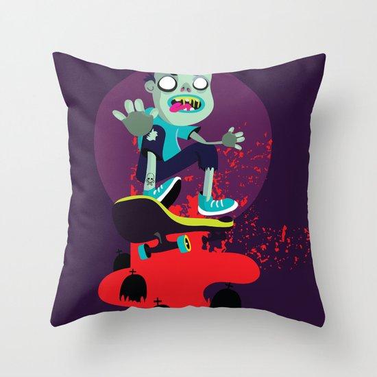 Skater zombie Throw Pillow