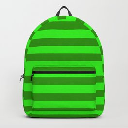 green stripes - texture watermelon Backpack