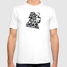 Smoke It! Mens Fitted Tee White SMALL