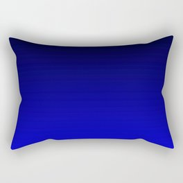 Black and Cobalt Gradient Rectangular Pillow