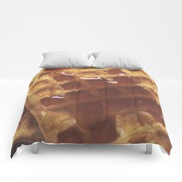 Waffles With Syrup Comforters