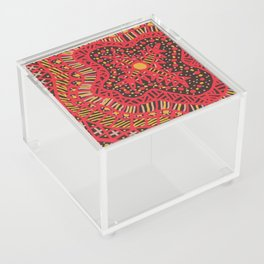 Doodle 16 Red Acrylic Box