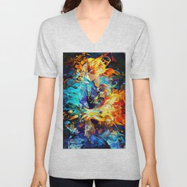 Hot and cold body Unisex V-Neck