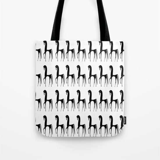 Black Horses Tote Bag