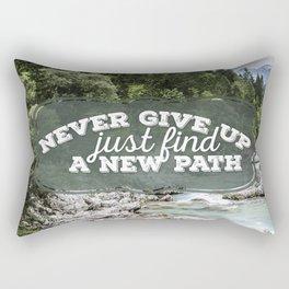 a new path Rectangular Pillow