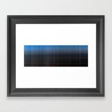 Blue Checked Framed Art Print