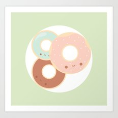 Donuts for breakfast! Art Print