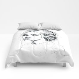 Fashion Illustration Comforters