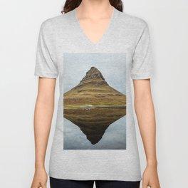 Mountain reflect Unisex V-Neck