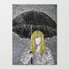 Umbrella - Expressive Mixed Glass Mosaic Canvas Print