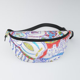 The croc, owls and friends Fanny Pack